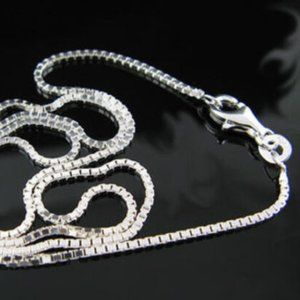 Jewelry - NWOT 925 Sterling Silver Box Chain Necklace